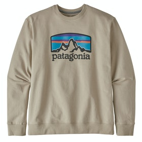 Patagonia Fitz Roy Horizons Uprisal Crew Sweater - Pumice