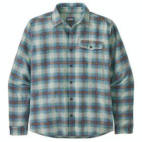 Patagonia Lightweight Fjord Flannel Shirt - Grange Bayou Blue