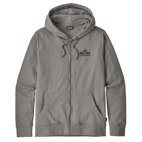 Patagonia Fitz Roy Scope Lightweight Full Kapuzenpullover - Feather Grey