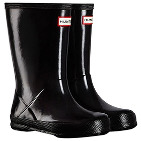 Hunter New First Gloss Childrens Wellington Boots - Black