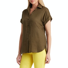 Lauren Ralph Lauren Broono Women's Short Sleeve Shirt - Dark Sage