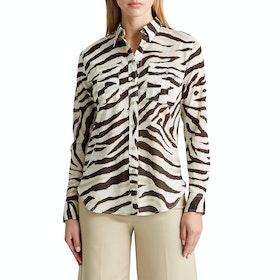 Lauren Ralph Lauren Courtenay Women's Shirt - Dk Brown Multi