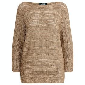 Lauren Ralph Lauren Alzinda Women's Sweater - Gold
