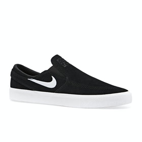 Nike SB Zoom Janoski RM Slip On Shoes - Black White