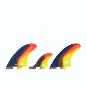FCS II Mark Richards Performance Core 2+1 Thruster Fin - Multi Colour Swirl