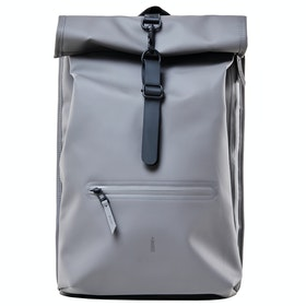 Rains Roll Top Rucksack - Charcoal