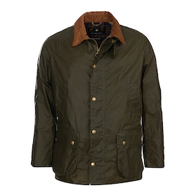 Barbour Lightweight Ashby Wax Jacket - Olive