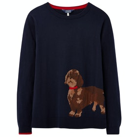 Joules Miranda Dames Breigoed - Navy Dashund
