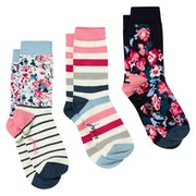 Joules Brill Bamboo 3 Pack Ladies Socks