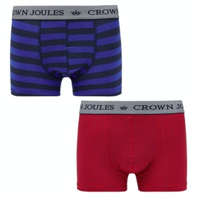 Joules Crown Joules 2pk Boxershorts - Stripe Duo