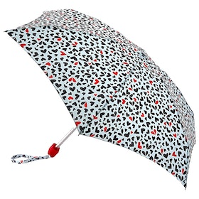 Lulu Guinness Tiny Women's Umbrella - Cut Out Hearts