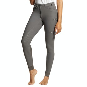 Ariat Triton Grip Full Seat Ladies Riding Breeches - Plum Grey