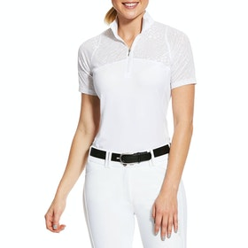 Ariat Airway 1/4 Zip Damen Turnier-Shirt - White