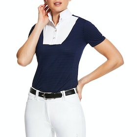 Ariat Lanni 1/4 Zip Ladies Competition Shirt - Navy