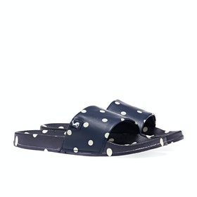 Joules Poolside Damen Sliders - Dark Blue Spot