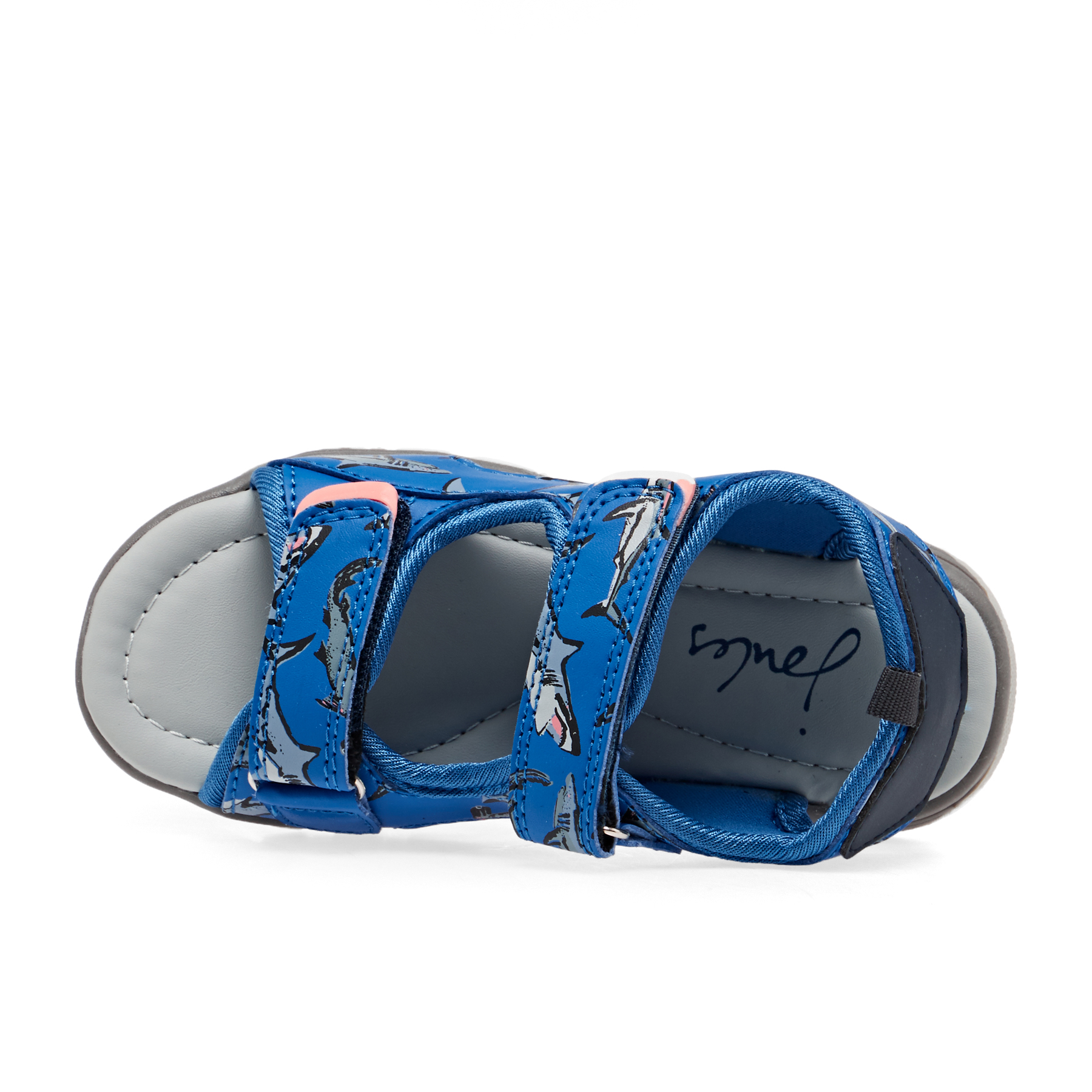 Joules Boys Rockwell Sandals in BLUE SHARKS
