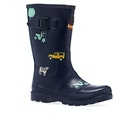 Joules Jnr Welly Print Boy's Wellington Boots