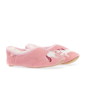 Joules Slipper And Soft Toy Pantoffeln - Cream Unicorn