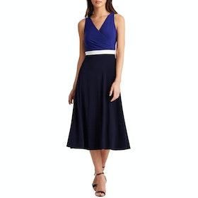 Lauren Ralph Lauren Davie Day Dress - Lh Navy/l White/cannes Blue