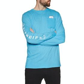 Camiseta de manga larga Rip N Dip Lord Nermal - Blue