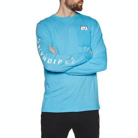 Rip N Dip Lord Nermal Long Sleeve T-Shirt - Blue