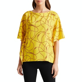 Lauren Ralph Lauren Anielka Women's Short Sleeve Shirt - Dandelion Fields Multi