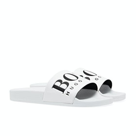 BOSS Solar Logo Sliders - White