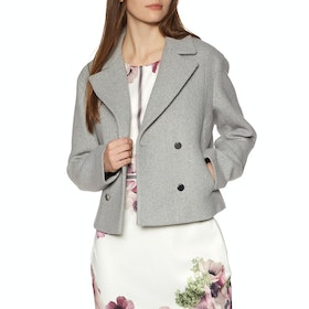 Ted Baker Agneta Double Breasted Cropped Womens Bunda - Light Grey