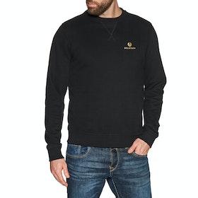 Belstaff Engineered Crew Neck Sweater - Black