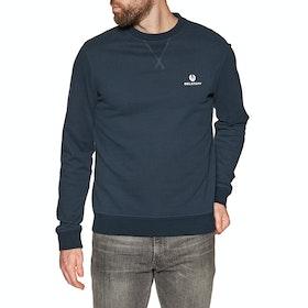 Belstaff Engineered Crew Neck Sweater - Navy
