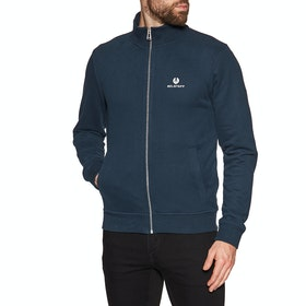Belstaff Zip Through Sweater - Navy