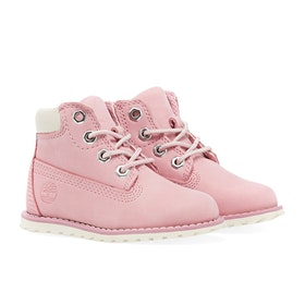 Timberland Pokey Pine 6in Side Zip Kinder Stiefel - Pink Nectar Nubuck