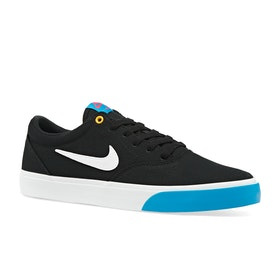 Chaussures Nike SB Charge Solarsoft - Black White Laser Blue University Gold