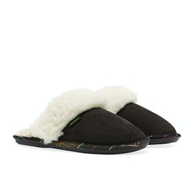 Barbour Lydia Mule Women's Slippers - Brown Suede