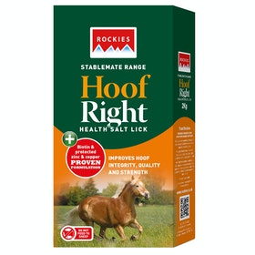 Rockies Hoof Right Health Lick - White
