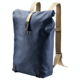 Brooks England Pickwick Canvas Leather Backpack - Dark Blue