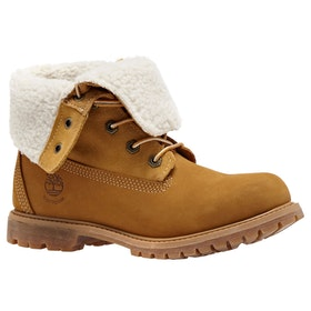 Timberland Authentics Teddy Fleece Ladies Boots - Wheat Nubuck