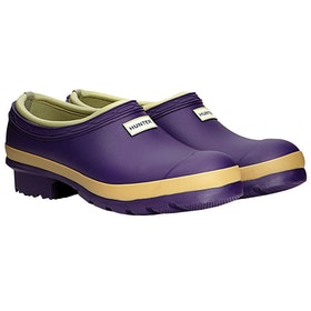Hunter Gardener Clog Ladies Wellington Boots - Dark Iris