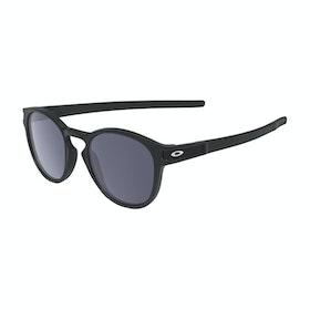Oakley Latch Sunglasses - Matte Black ~ Grey