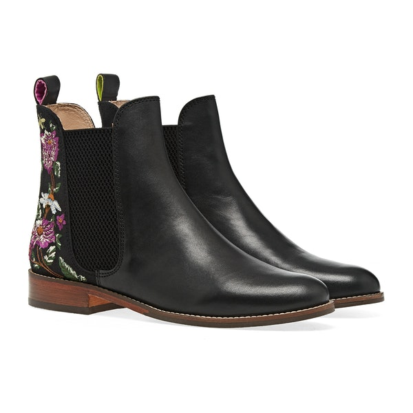Joules Westbourne Embroidered Chelsea Damen Stiefel