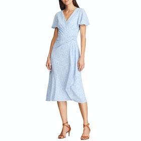 Платье Lauren Ralph Lauren Ezra Print Crepe - Eos Blue Colonial Cream