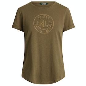 Lauren Ralph Lauren Hailly Women's Short Sleeve T-Shirt - Dark Sage