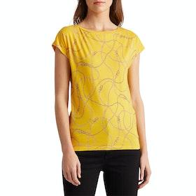 Lauren Ralph Lauren Grieta Sleeveless Women's Short Sleeve T-Shirt - Dandelion Multi