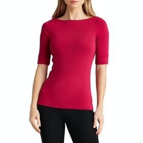 Lauren Ralph Lauren Judy Elbow Sleeve Dames Top - Bright Fuchsia