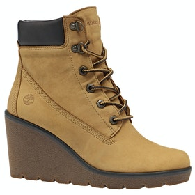 Timberland Paris Height 6in Damen Stiefel - Dark Yellow Nubuck