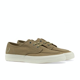Fred Perry Ealing Low Canvas Schuhe - Almond