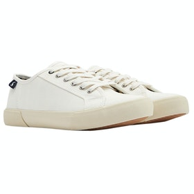 Joules Coast Pump Ladies Trainers - White
