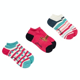Joules Rilla Bamboo Ladies Socks - Red Dog Multi