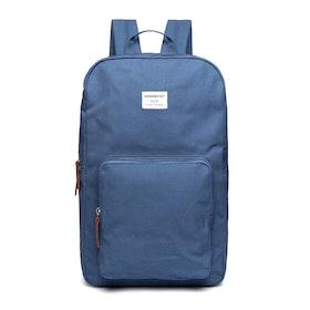 Plecak Sandqvist Kim - Dusty Blue With Cognac Brown Leather