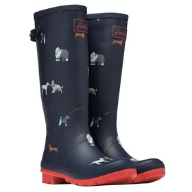 Joules Printed Women's Wellington Boots - Mayday Dogs